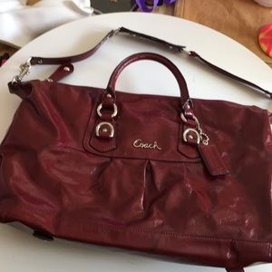 Coach leather handbag with straps